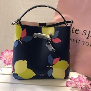 Kate Spade Eva Lemon Zest Large Bucket Leather Bag